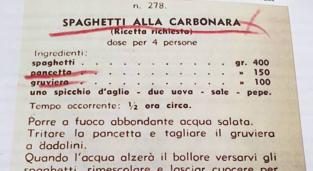 4964337 2334 carbonara ricetta gruviera La carbonara delle origini Con aglio e gruviera La vera storia della ricetta che spiazza i romani