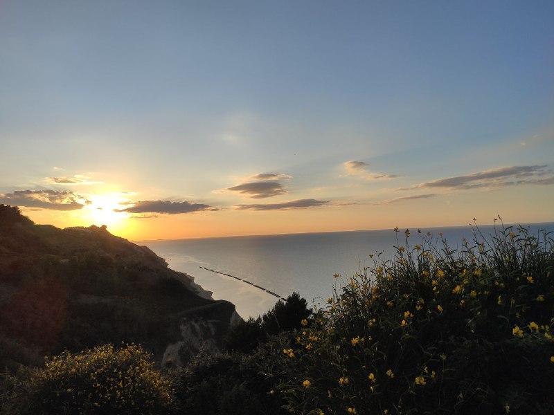 Tramonto14 Tramonto sul mare di Riccione dal Monte San Bartolo
