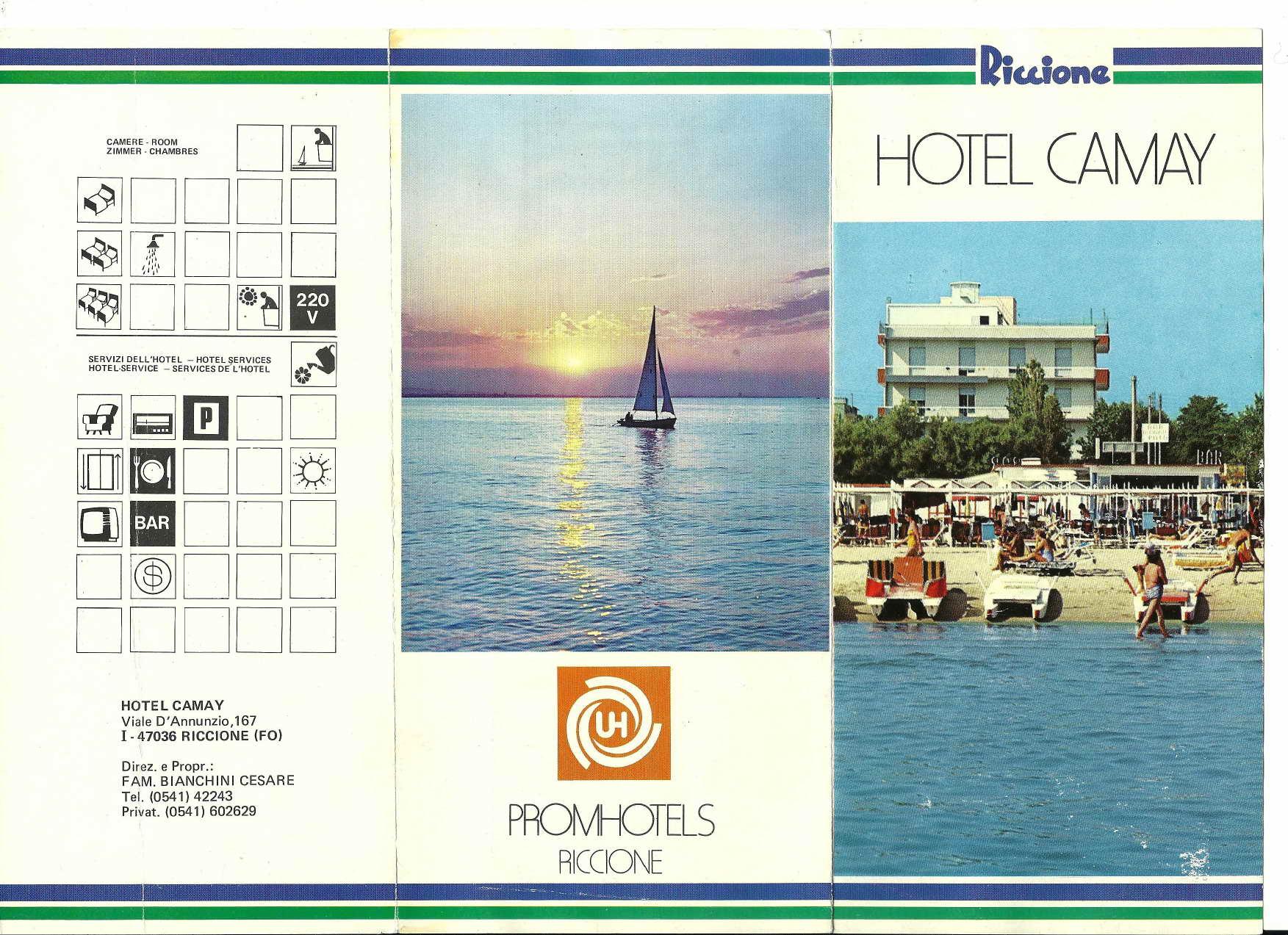 Depliand anni90 2 page 0001 Riccione Hotel Camay Vintage anni 8217 80